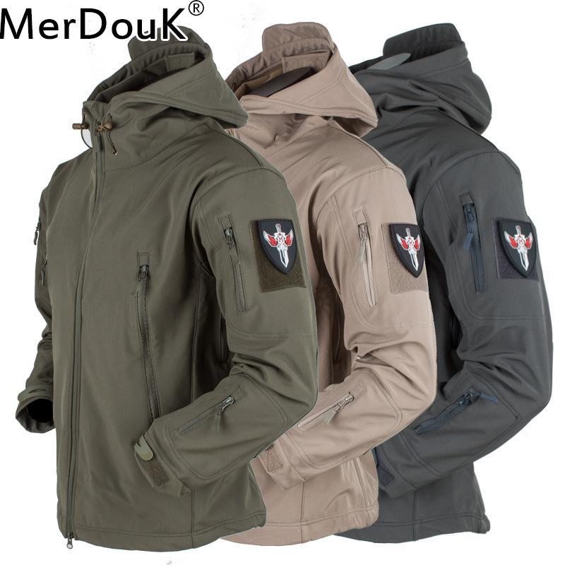 659ff2b09 Men Winter Tactical Fleece Army Jacket Military Shark Skin ...