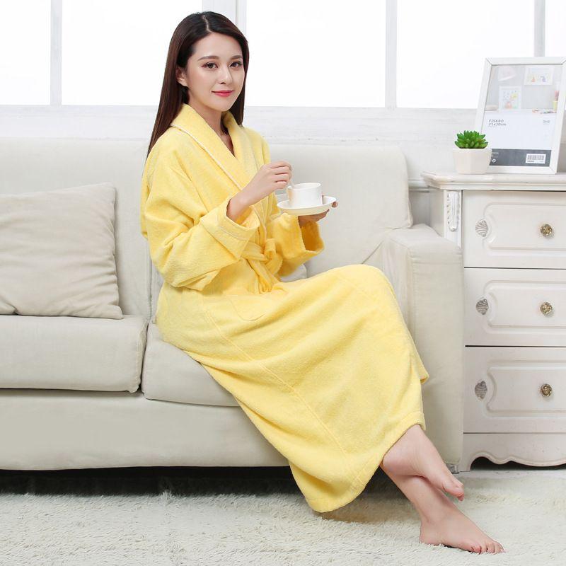 2019 High Quality All Seasons Cotton Terry Couples Bathrobes Women Robe Men  Hotel Bathrobe Soft Breathable Absorbent Sleepwear Cloth From Yukime 8e2a7fa83