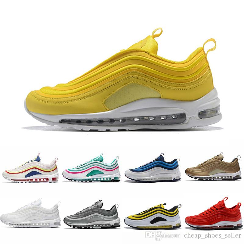 fad6d69e497d51 Acheter Nike Air Max 97 Shoes Yellow Steelers 97 X UNDEFEATED OG UNDFTD  Chaussures De Course 97s SE Triple Blanc
