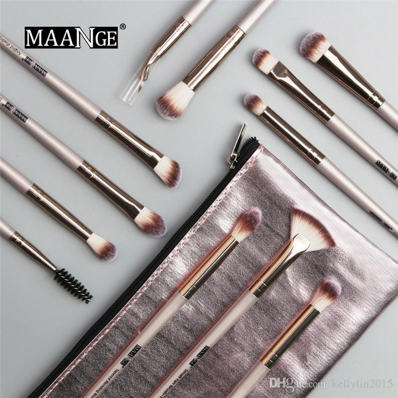Professional Makeup Brushes Set with Bag 12pcs Make Up Powder Brushes Tools Facial Concealer Eye shadow Highlighter Lip Brush