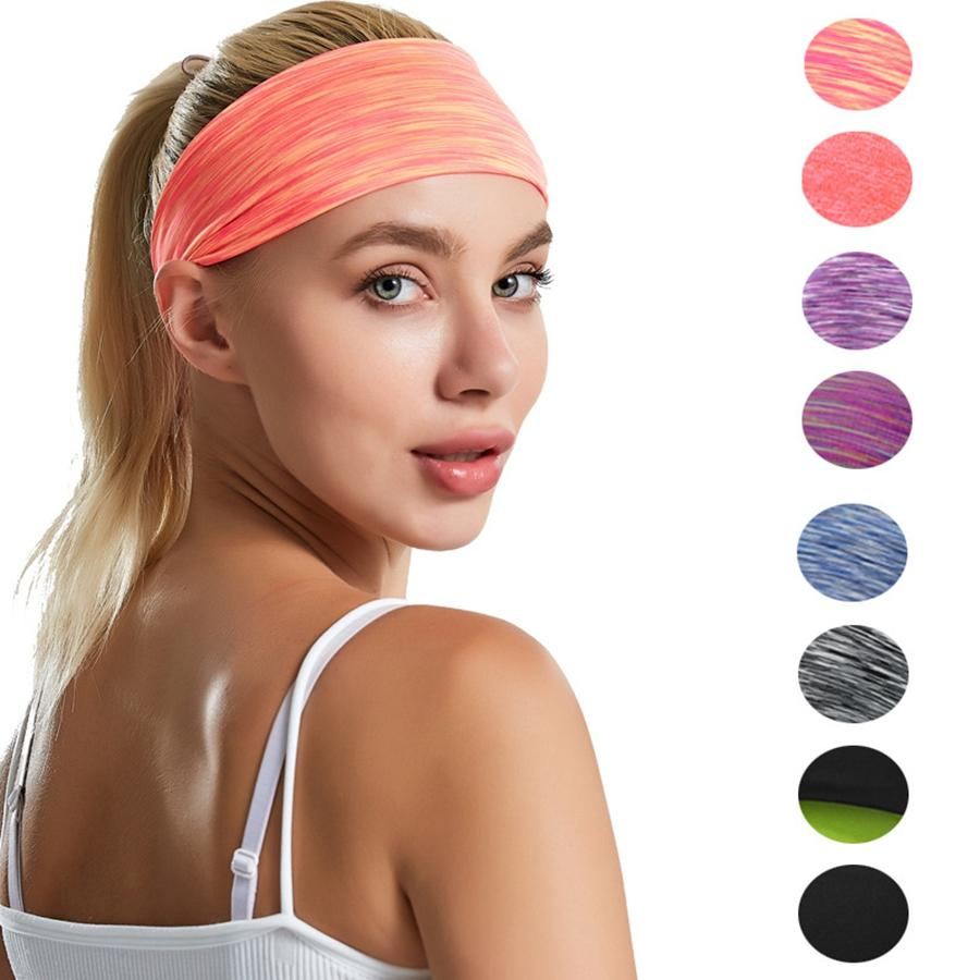Women Yoga Sport Headband Polyester Absorb Sweat Running Fitness Hairband Ladies Sport Headwear Girl Party Gift TTA1625