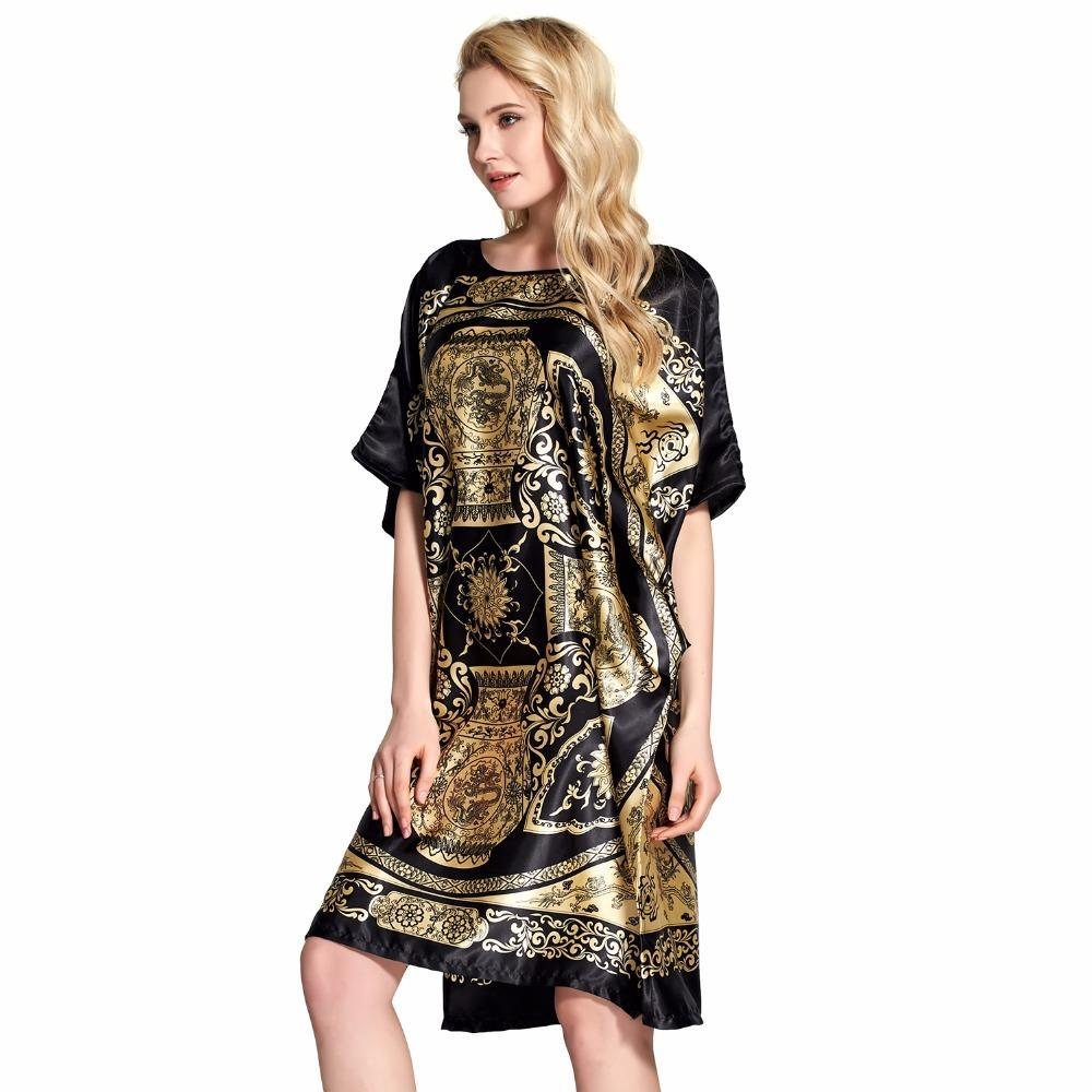 dbe4659b19 2019 Robe Summer Floral Robe Women Sleepwear Nightwear Home Clothing  Bathrobe Night Dress Home Gown Sexy Sleepwear Nightgown From Kaway
