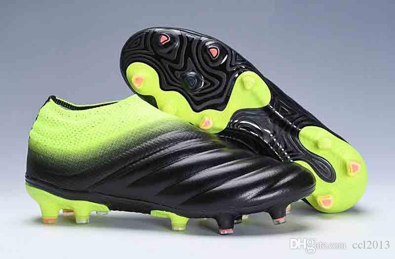 da2c8506b83 Acheter 2019 Pas Cher Mens Crampons De Football Copa 19+ Mundial FG  Chaussures De Foot Coupe Du Monde Chaussures De Football En Cuir Tacos De  Futbol ...