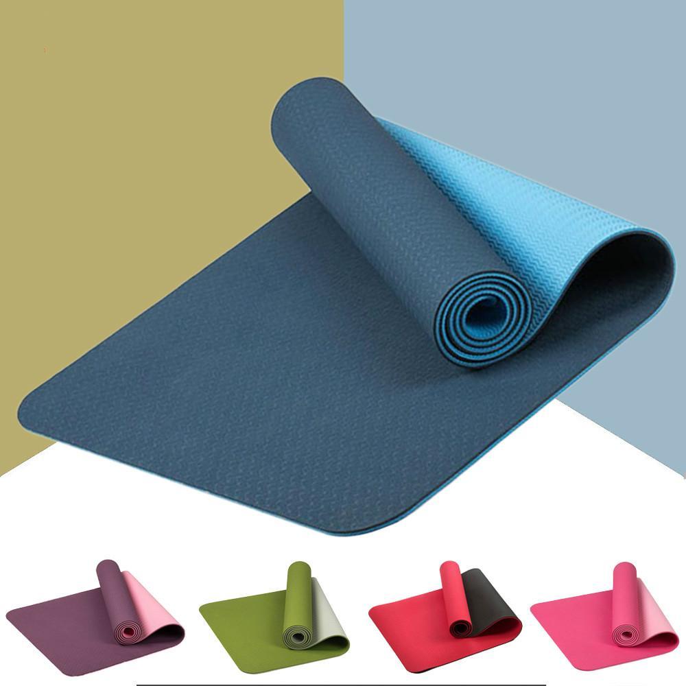 Beginner Three-Piece Fitness Mat Exercise & Fitness Accessories Yoga Mat Comfortable Non Slip,Printed Yoga Mat Double Slip