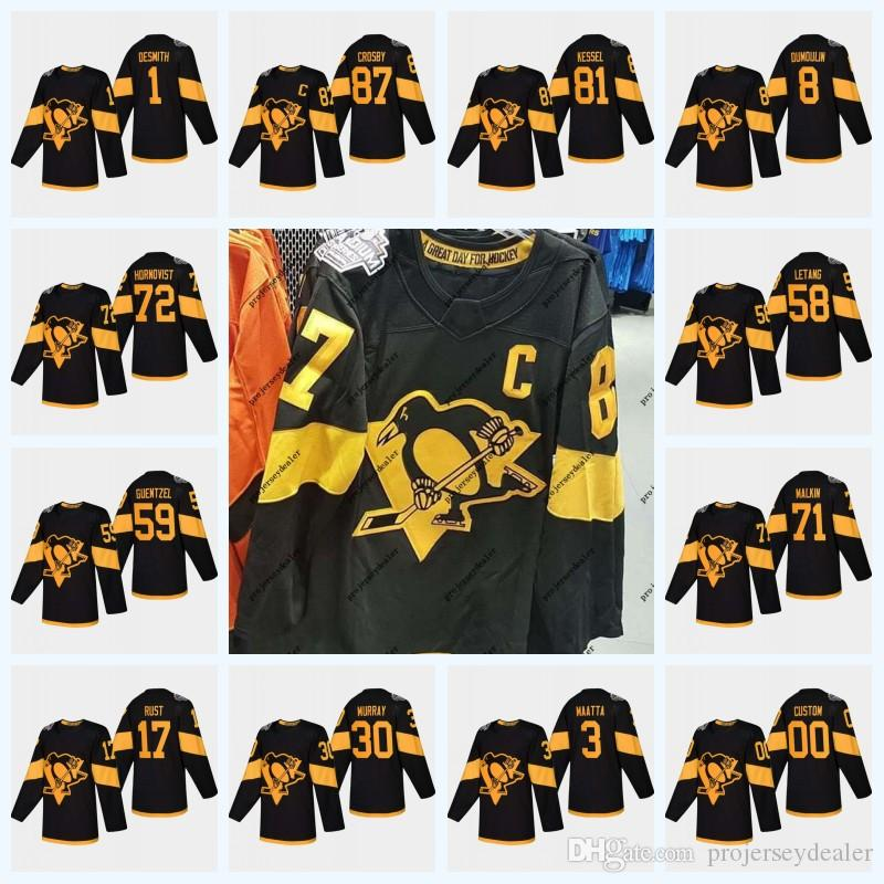 Youth 58 Kris Letang Pittsburgh Penguins 2019 Stadium Series Sidney ... d315c7ab2