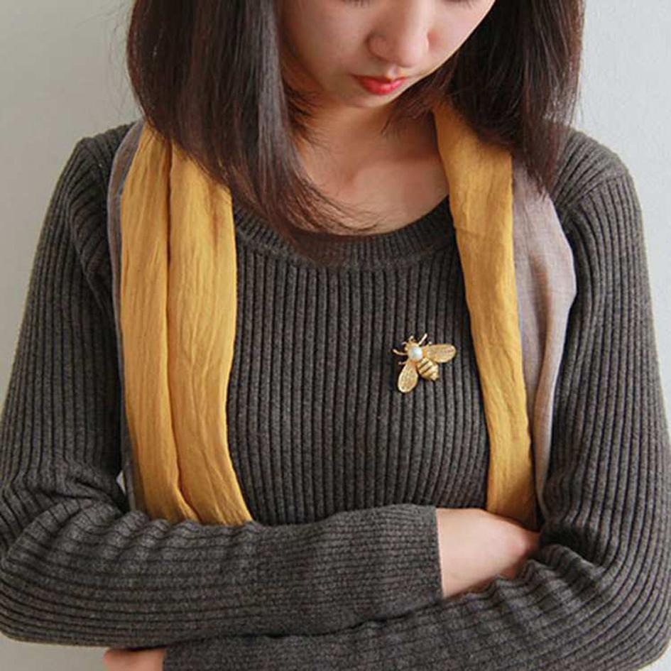 Очистить Кристалл Pearl Bee броши для женщин Унисекс насекомых Брошь Pins Симпатичные Малый Жетоны Мода фраке Аксессуары Ювелирные изделия