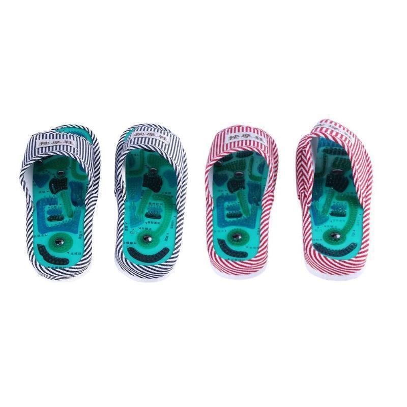 f03c22bc764e5 Acquista Pantofole Massaggio Agopuntura Piedi Scarpa Salute Riflessologia  Sandali Magnetici Agopuntura Piedi Sani Cura Massaggiatore Magnete Scarpe  ...