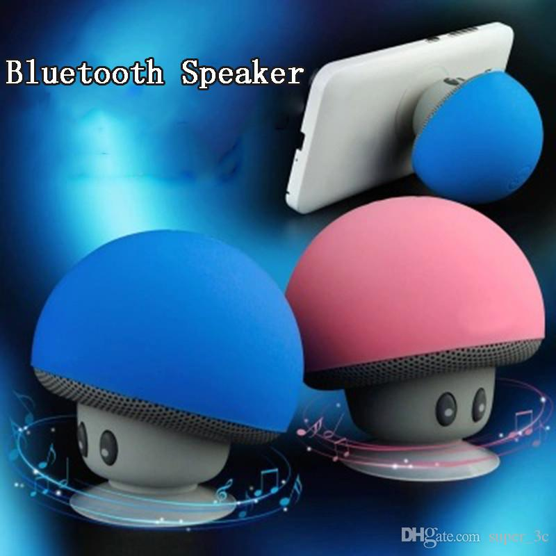 Altoparlante portatile Mini Bluetooth Wireless Speaker piccolo fungo di modellazione Subwoofer stereo bassa Sucker cellulare Holder Horn