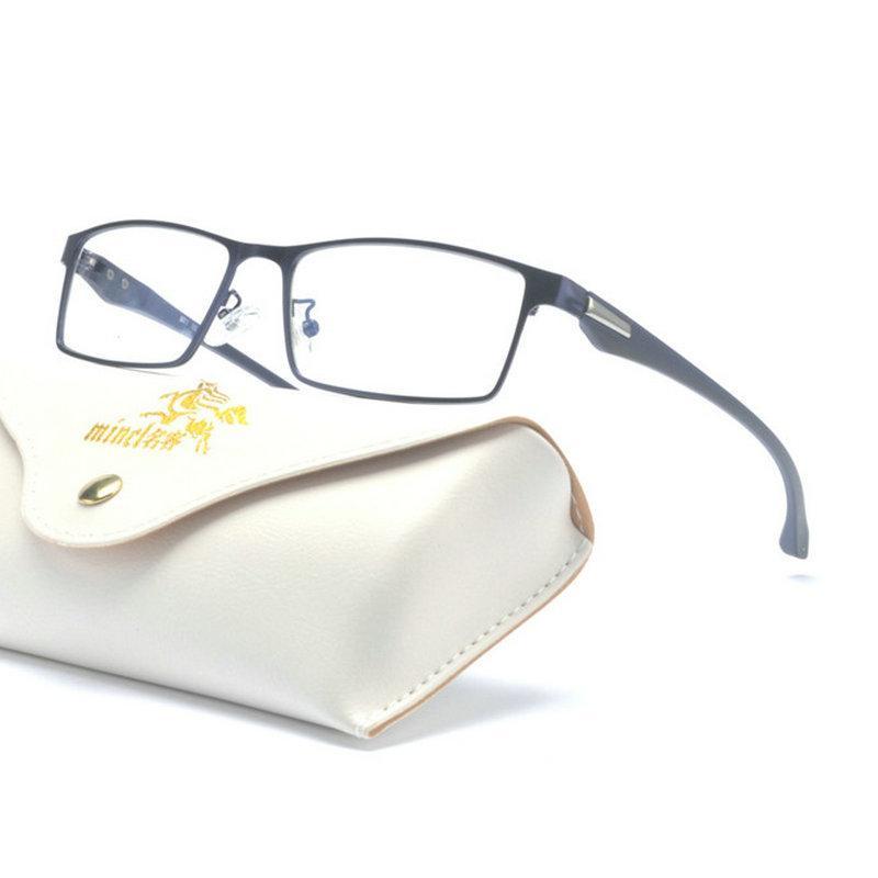 abe333f90 Compre MINCL / Óculos Homens Quadro Ultraleve Quadrado Olho Miopia  Prescrição Óculos Nova Metade Das Mulheres Quadro Ótico Masculino Eyewear  NX De ...