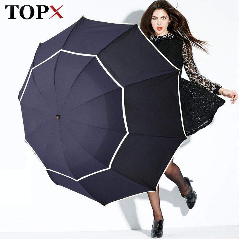 2f8284ae746b Double Golf Rain Windproof 3floding Large Male Women Non-automatic Business  Umbrella For Men Paraguas Q190603