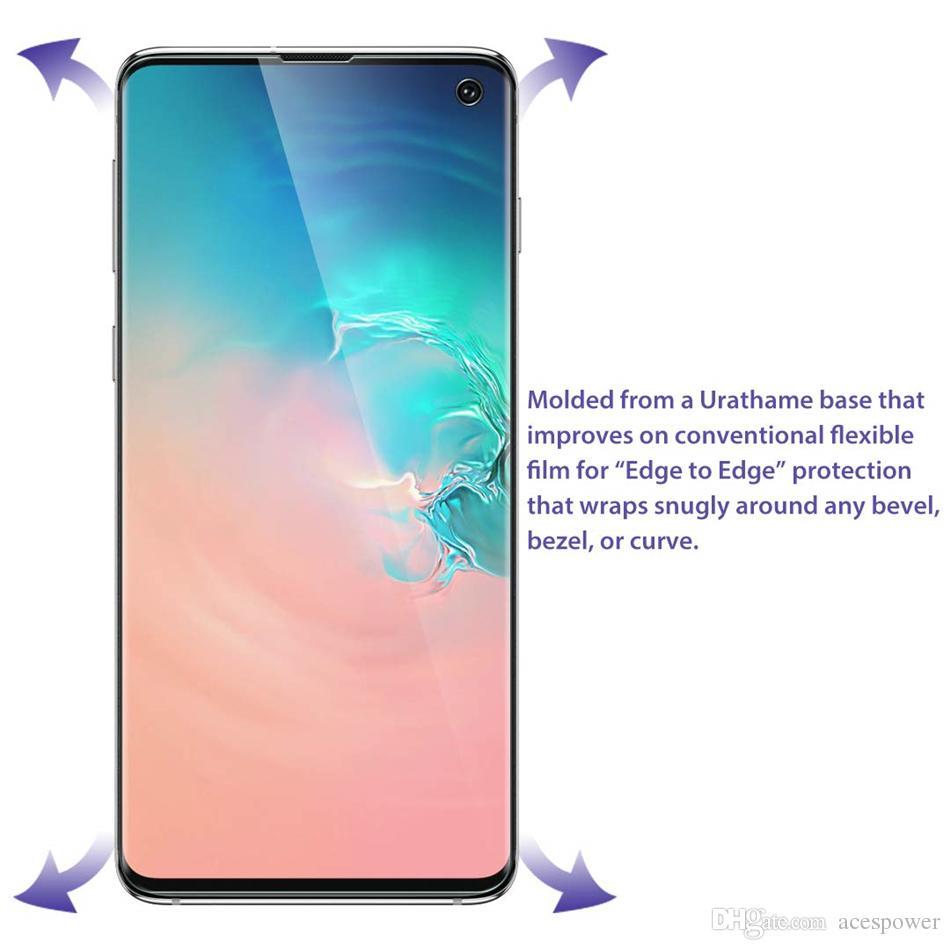 Para Samsung Galaxy S10 S10Plus S20 S9 Note 9 10 Plus Cobertura Completa Curvo Alta Limpa Protetor de Tela Dianteira Filmes Protetores Soft TPU