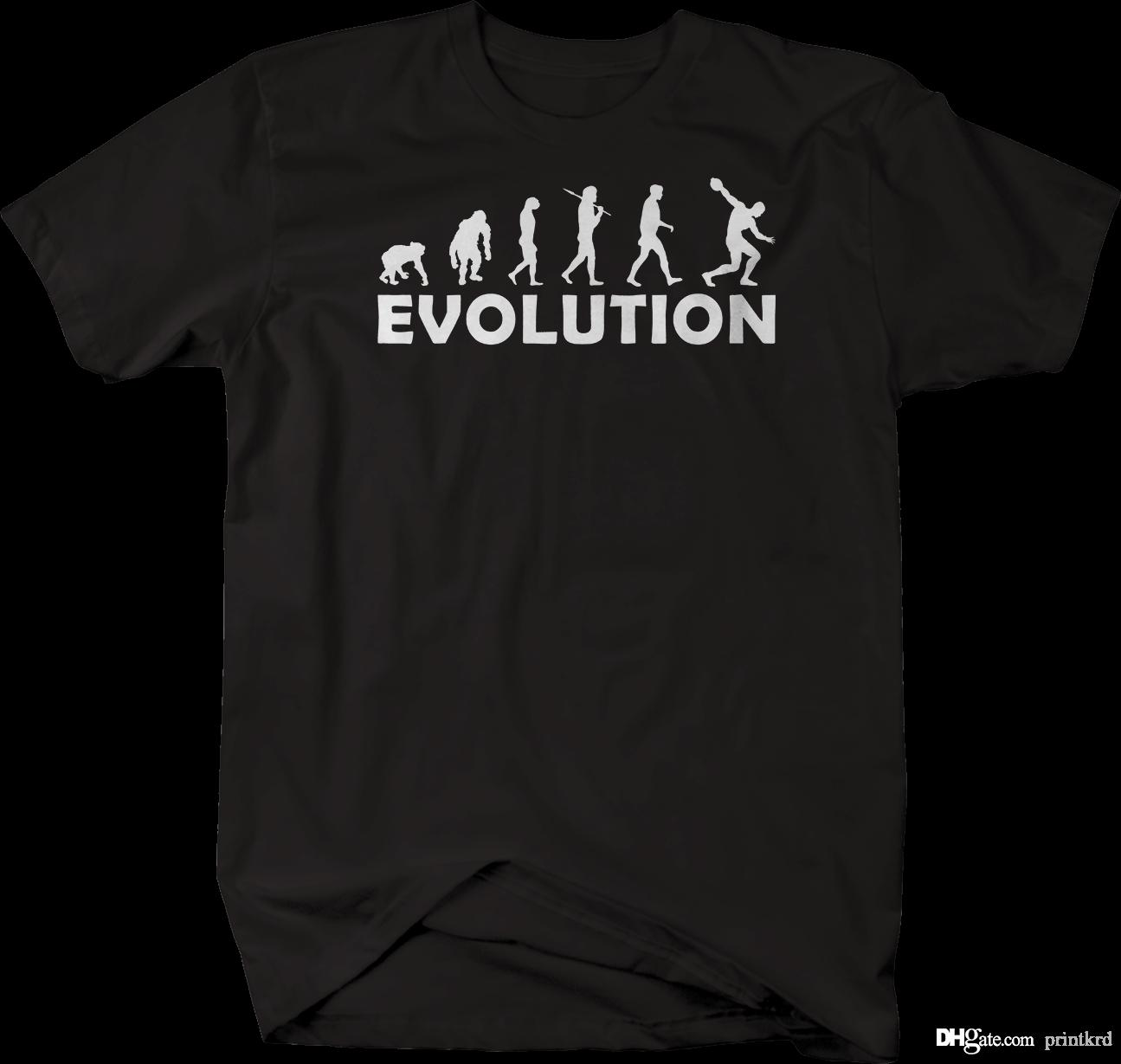 Evolution Of Man Discus Track Field Tshirt White T Shirt Designs