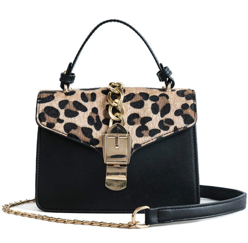 d20e951dba7 European Fashion Female Tote Bag 2019 New Quality Pu Leather Women's  Designer Handbag Sexy Leopard Chain Shoulder Messenger Bags