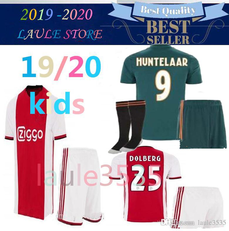 3e92a8a55a2 2019 2019 2020 Ajax Kids Kits Soccer Jersey With Socks 19 20 Van De Beek Uniforms  Shirt Boys Football Jersey Huntelaar Ziyech Schone HOME De Jong From ...