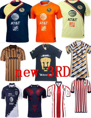 sports shoes 52995 fd504 new 2019 LIGA MX Club America Soccer Jersey 18 19 Club de Futbol jersey  Chivas Pachuca Necaxa Laguna Tigres Tijuana football shirt uniform