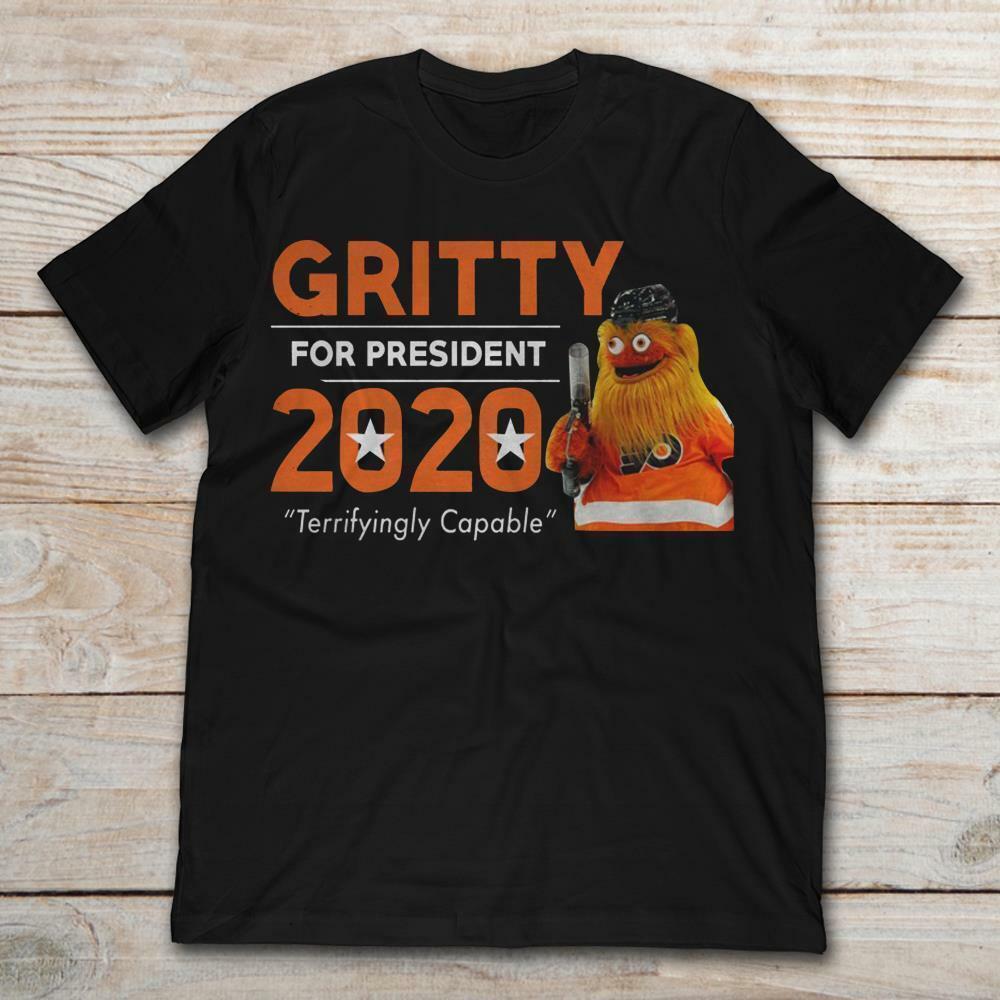 f9de3cd81da Gritty For President 2020 Black T-shirts M-3XL US Men's Women's Clothing  trend Short Sleeve Plus Size t-shirt