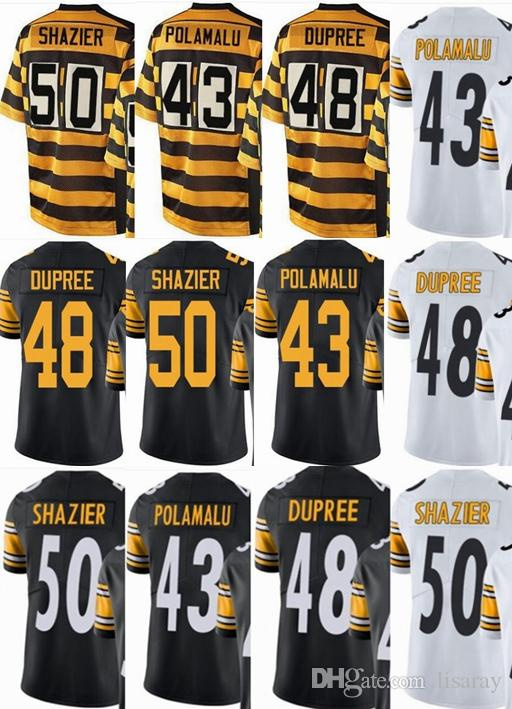 new product 77548 7ece1 Pittsburgh custom Steeler men/youth/women#43 Troy Polamalu 48 Bud Dupree 50  Ryan Shazier Vapor Untouchable Limited/rush/elite jerseys