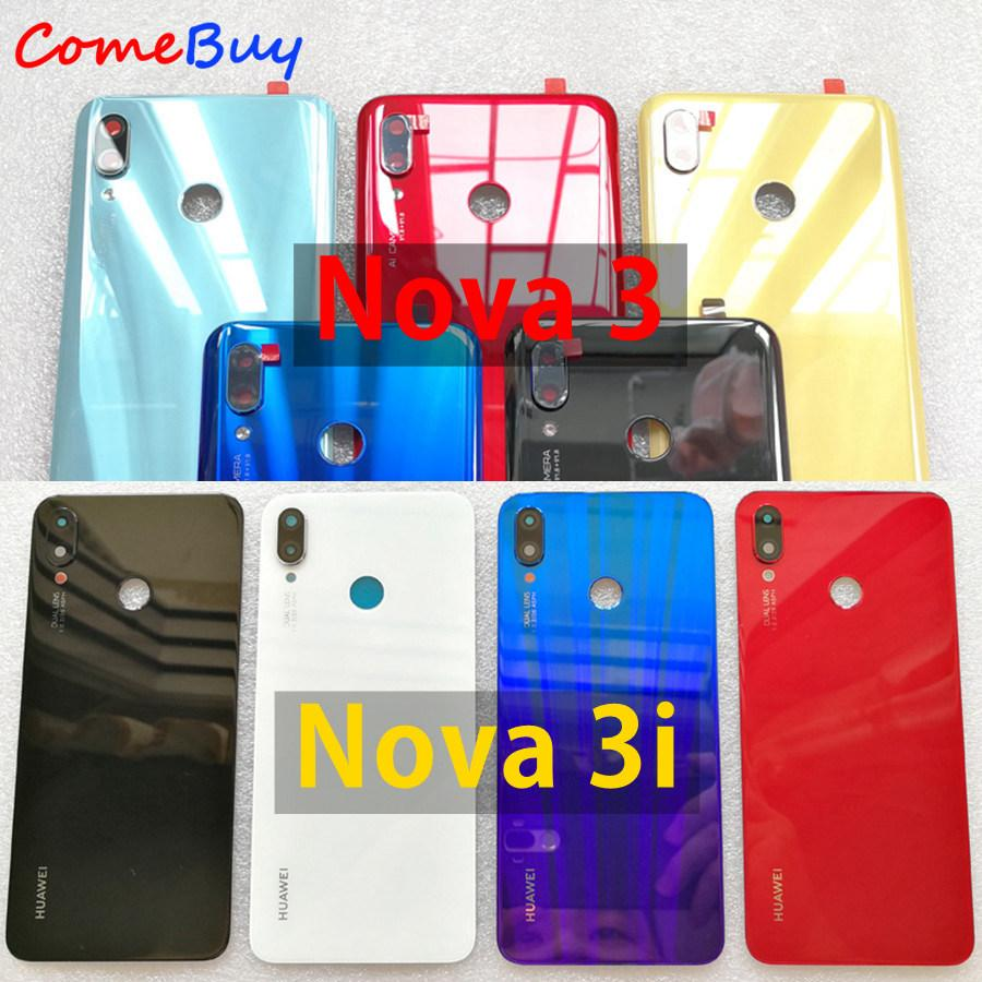 Huawei Nova 3 Battery Cover Back Glass Rear Door Housing Case For Huawei  Nova 3i Battery Cover With Camera Lens