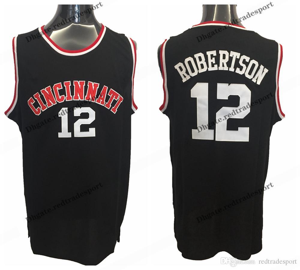 new product 63722 bc1c0 Mens Cincinnati Bearcats Oscar Robertson College Basketball Jerseys Home  Blue Vintage Cheap 12 Oscar Robertson Stitched Shirts S-XXL
