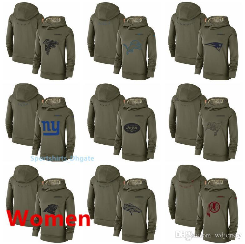 557dd847 Women Detroit Lions New York Giants New York Jets Tampa Bay Buccaneers  Salute to Service Team Logo Performance Pullover Hoodie