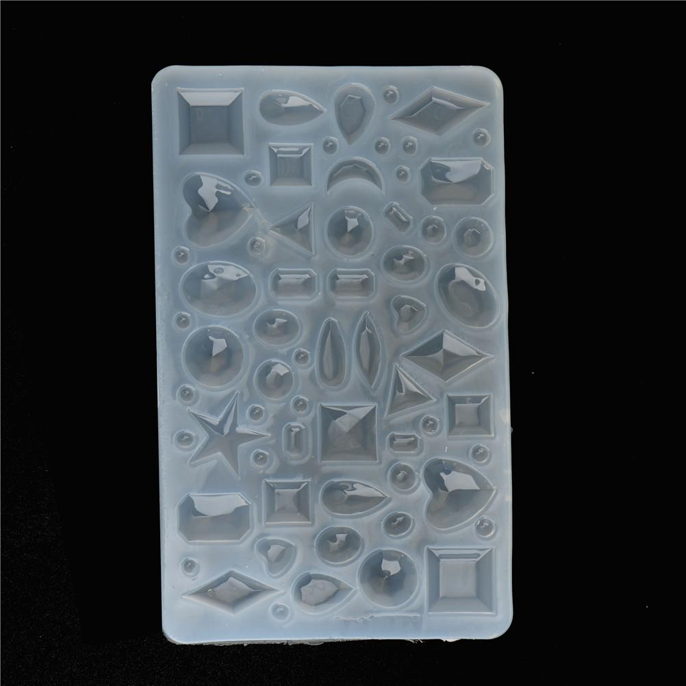 Pendant Craft DIY Transparent UV Resin Liquid Silicone Combination Molds  For DIY Making Finding Accessories