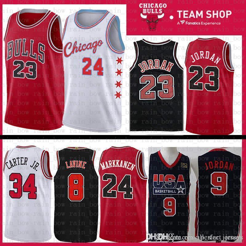 9ee537248b0c 2019 24 Markkanen 2019 New Chicago Jersey Bulls 23 Michael Zach 8 LaVine  Lauri Wendell 34 Carter Jr. Mesh Retro The CITY Basketball Jerseys From ...