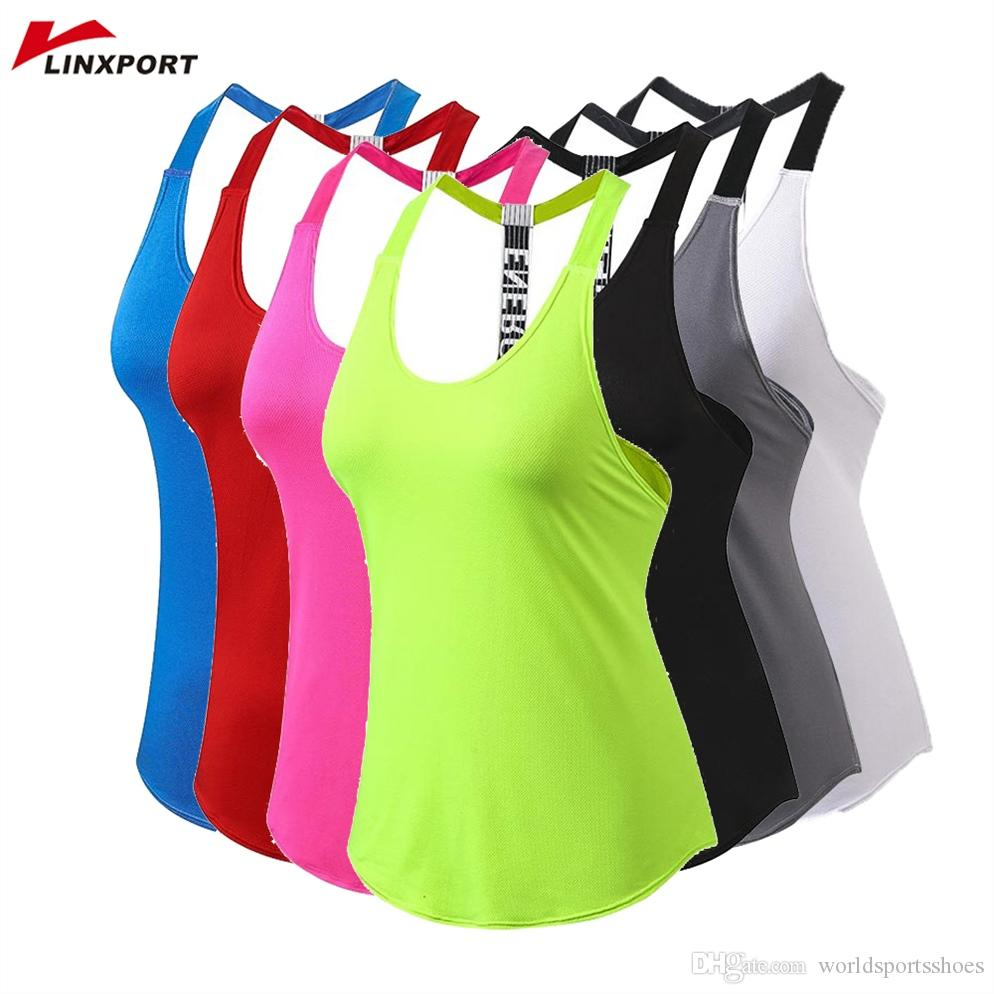 779d2a6156 2019 Women Gym Sports Vest Backless Yoga Top Fitness Running Shirts Sexy  Tank Tops Quick Drying Sweater Hot Sleeveless Workout Tunics #318957 From  ...