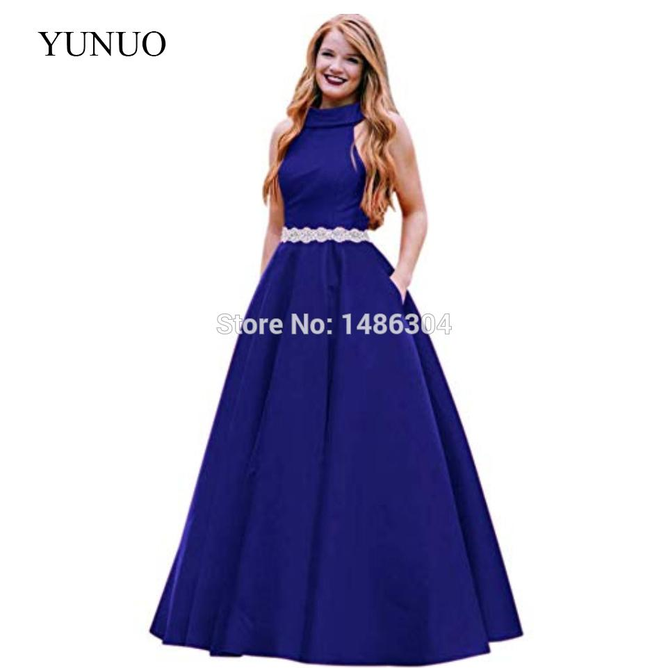 8403cd13af63 2019 Women'S Beaded Sleeveless Long Formal Prom Dresses With Pockets Camo Prom  Dress Celebrity Prom Dresses From Youerwedding, $167.11| DHgate.Com