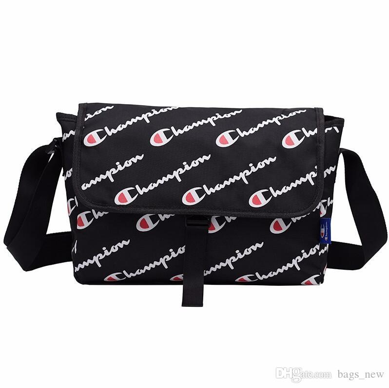 Unisex Champions Letter Messenger Bag with Retail Tag Belt Waist Fanny Packs School Laptop Tablet Bags Waterproof Beach Sports Totes