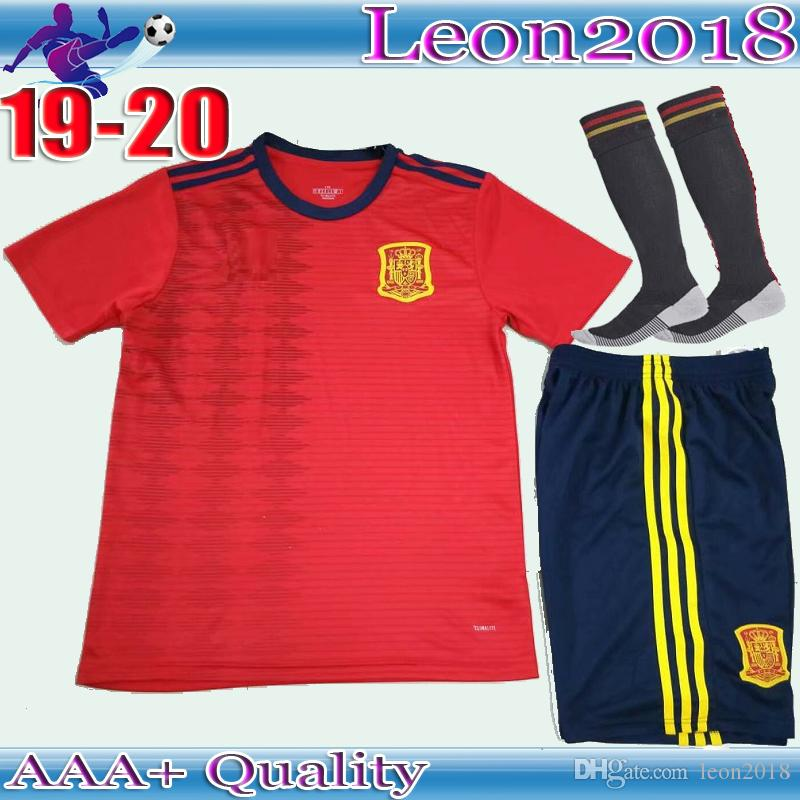 SIZE S-XXL Adult kits 2019 Spain World Cup Soccer Jersey 19 20 A INIESTA  RAMOS DIEGO COSTA ASENSIO ISCO Men sets Football shirt