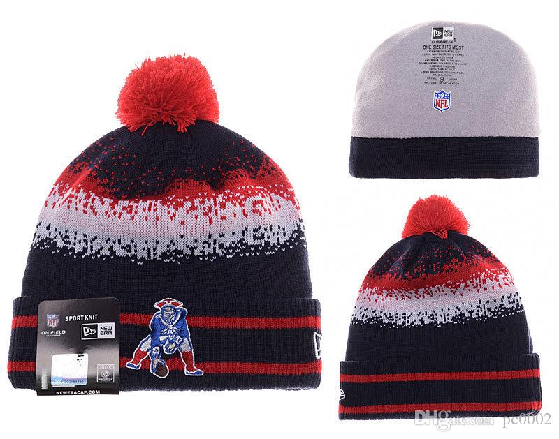 fd75cf2bf Men's New England Patriots New Navy 2018 Sideline Cold Weather Official  Sport Sideline Cold Weather Official TD Knit Hat 03