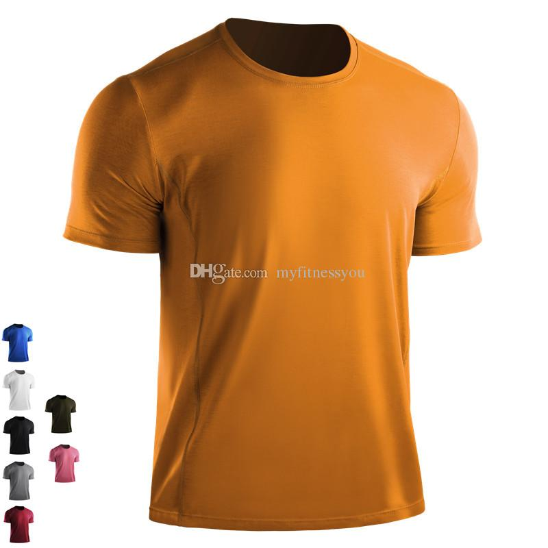 188ff06f2 Brand Gym Fitness Shirt Men Gym Clothing Sports Outdoor Exercise Loose  Shirt Tops Quickly Dry Man Running Jerseys Training Wear Plus Size