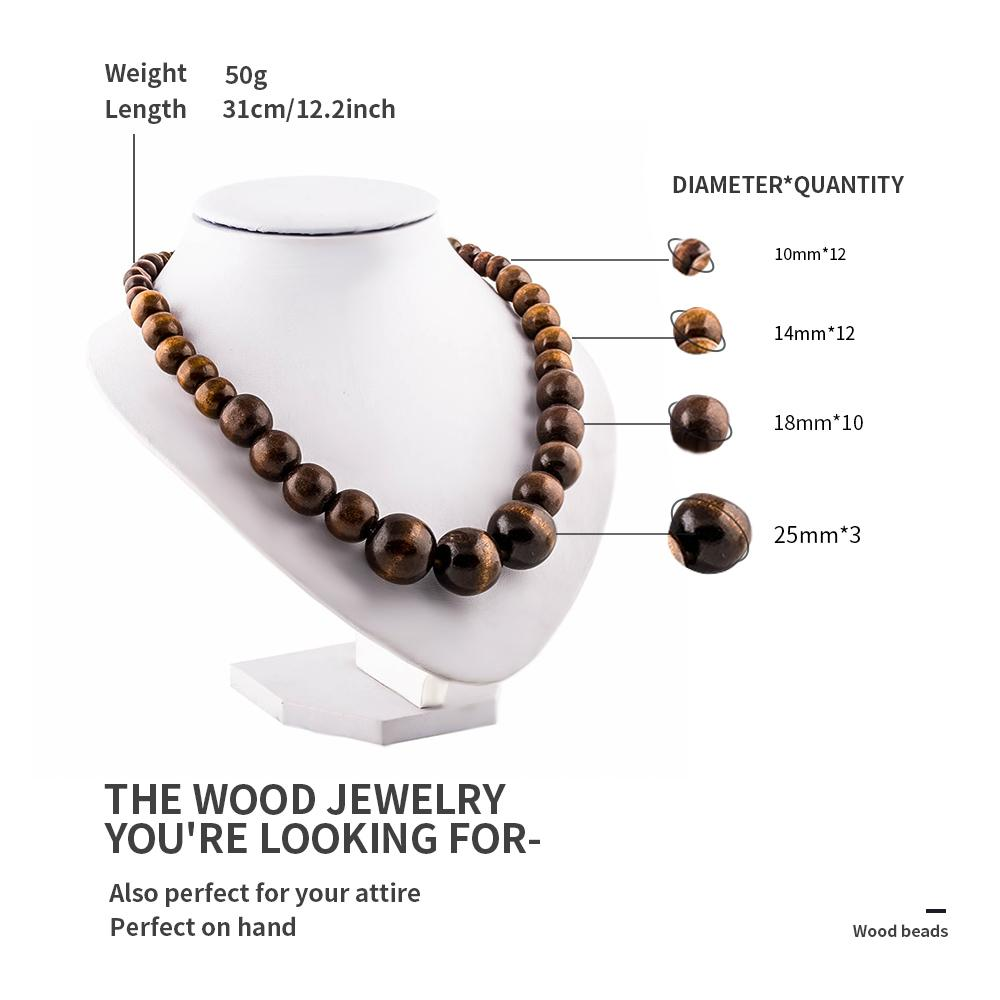 Perline tibetane Polished Triangle Dragon Eye Bodhi Seeds Preghiera Malas in legno naturale / Collana donna perline collane