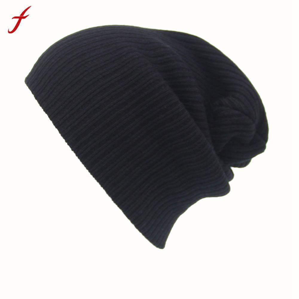 0dbb6e6598f Feitong Winter Casual Hip Hop Beanies Hat For Men Women Knitted Hats ...