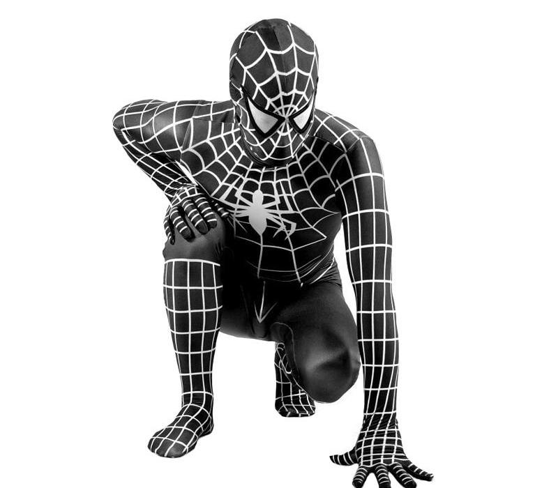 kid adulti Ragno Nero costume cosplay costume adulto Venom Ragno Nero Suit Zentai scuro tuta