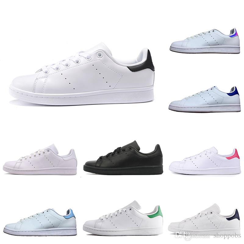 the latest a727c a6052 Cool 2019 Cheap Cheap Stan Smith Classic Men Woemn Casual Shoes Smiths  Triple Black White Red Gold Mens Outdoor Leather Sneakers ShopPobs