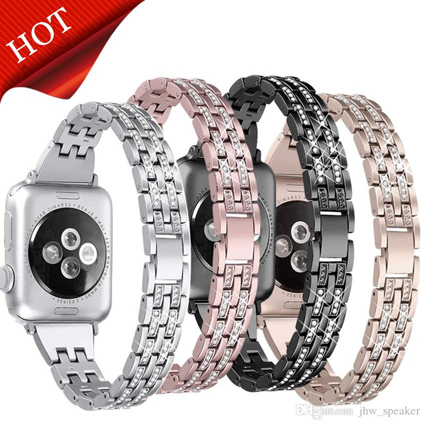 Diamant Bling Metall Uhrenarmband Armband mit Adapter Armband Armband für Apple Watch Band 38 / 40mm 42 / 44mm iWatch Serie 1234