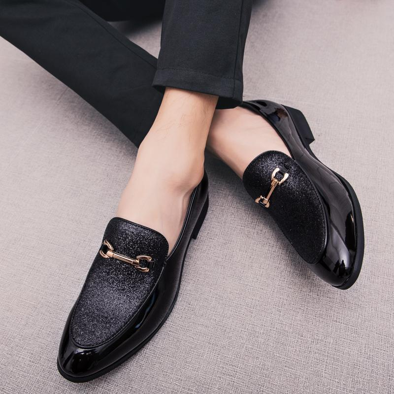 Shoes Men's Shoes 2019 Newest Fashion Men Formal Mariage Wedding Party Shoes High Quality Pointed Toe Business Shoes Men Loafers Oxford Shoes