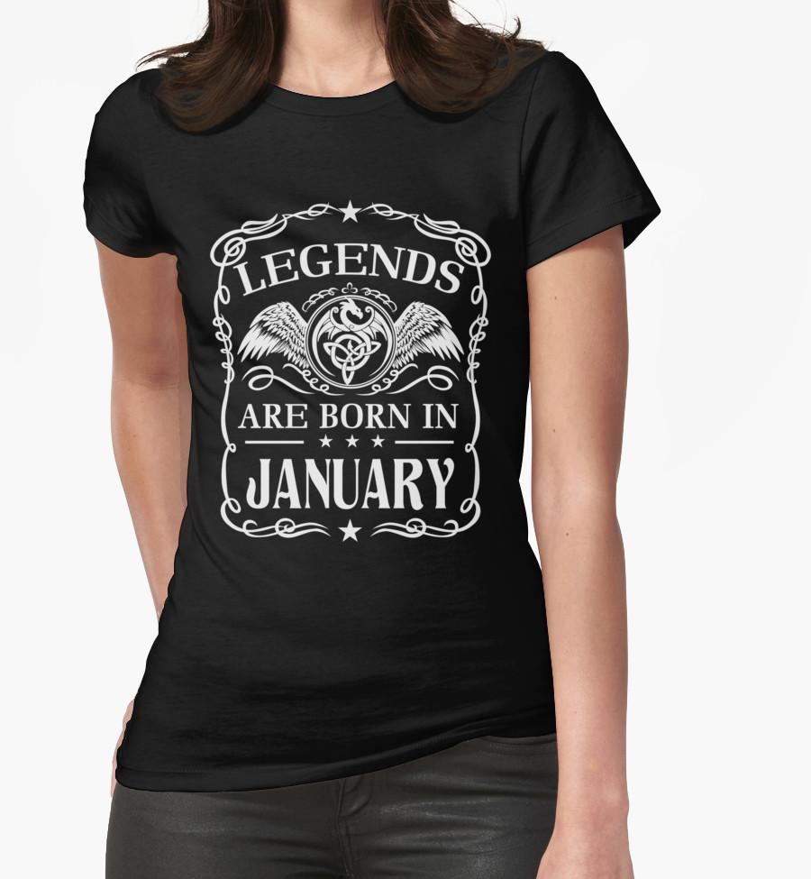 WomenS Tee Womens Legends Are Born In January February March April May June July August September October November December Birthday Shirts T Shirt