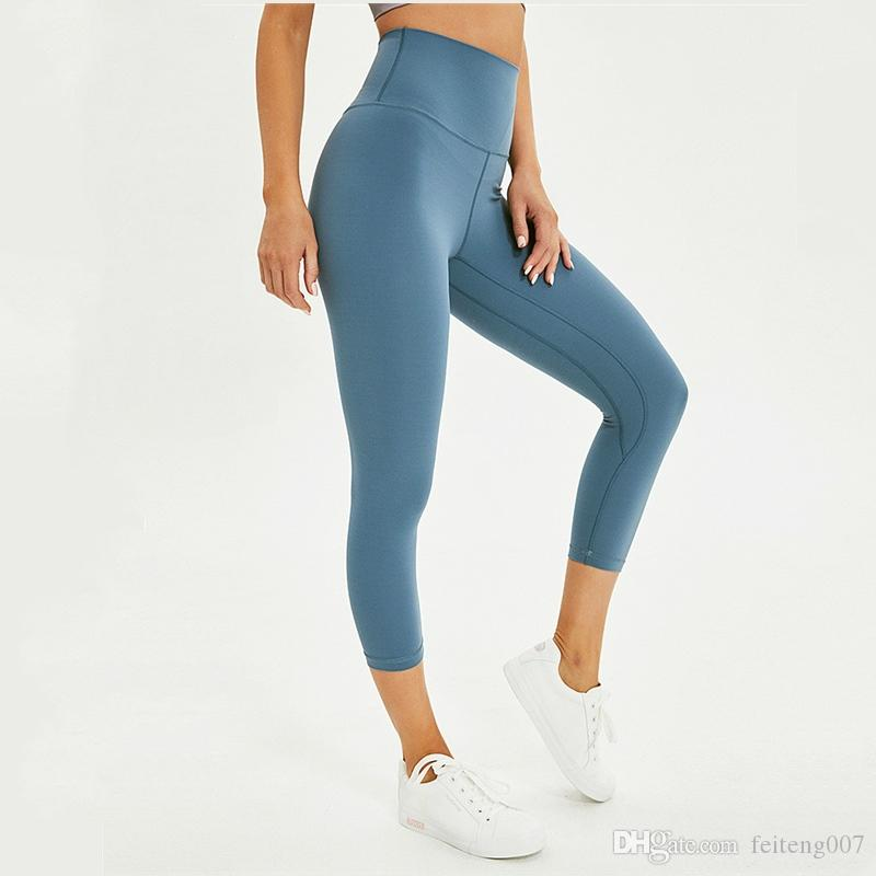3026abd8e03 Gym Essential Workout Pants Crop Tights High Waist Women 4 Way Stretch  Sports Fitness Capri Cottony Soft Yoga Running Leggin 7/8 #784596