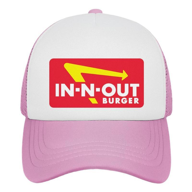 Womens Mens Flat-along Adjustable in-n-out burger Rock Punk Cotton Peak Cap Golf Military Caps Airy Mesh Hats For Men Women