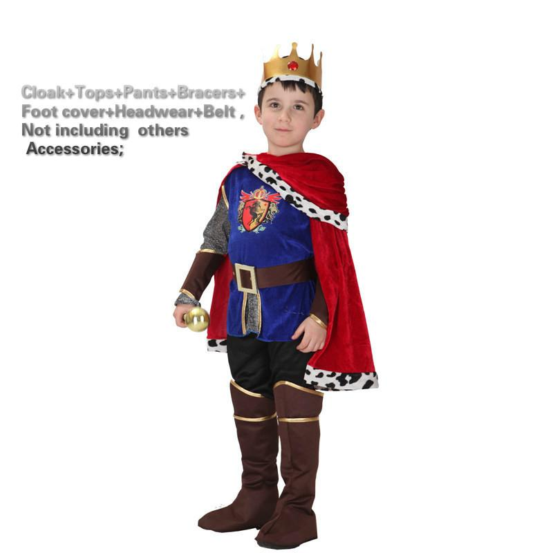 Home Halloween Costume For Kids Children Fantasia Infantil Carnival Party Fancy Dress The King Prince Boys Childcosplay Christmas