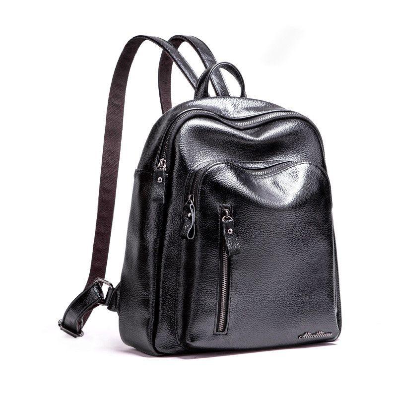 7155e849f7 Good Quality 2019 New Travel Backpack Korean Women Female Rucksack Leisure  Student School Bag Soft Pu Leather Women Bag 168 252 Black Backpack Camera  ...