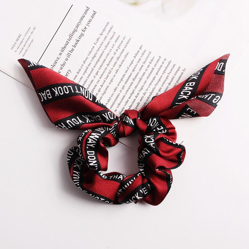 Hair Scrunchies Bands Streamer Accessories Women Girl Ponytail Holder Elastic Ropes Ribbon Scrunchie Hair Ties bobbles Headwear F307A
