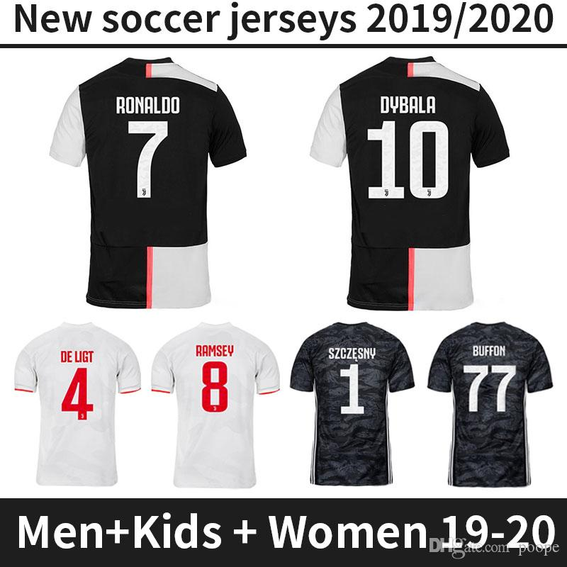 super popular c6f14 32a07 19 20 Juventus Jersey RONALDO Soccer Jerseys 2019 2020 women kids Home away  DE LIGT DYBALA HIGUAIN Camiseta de Futbol Maillot Football shirt