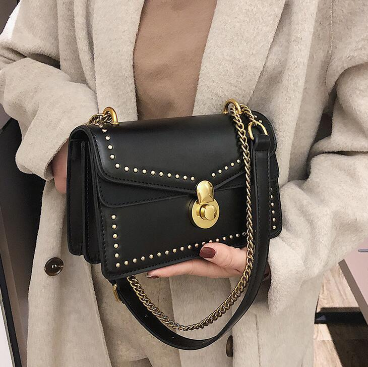 3204f59f7c37 The Hottest Brand Recommended Ladies Fashion Rivet Chain Bag ...