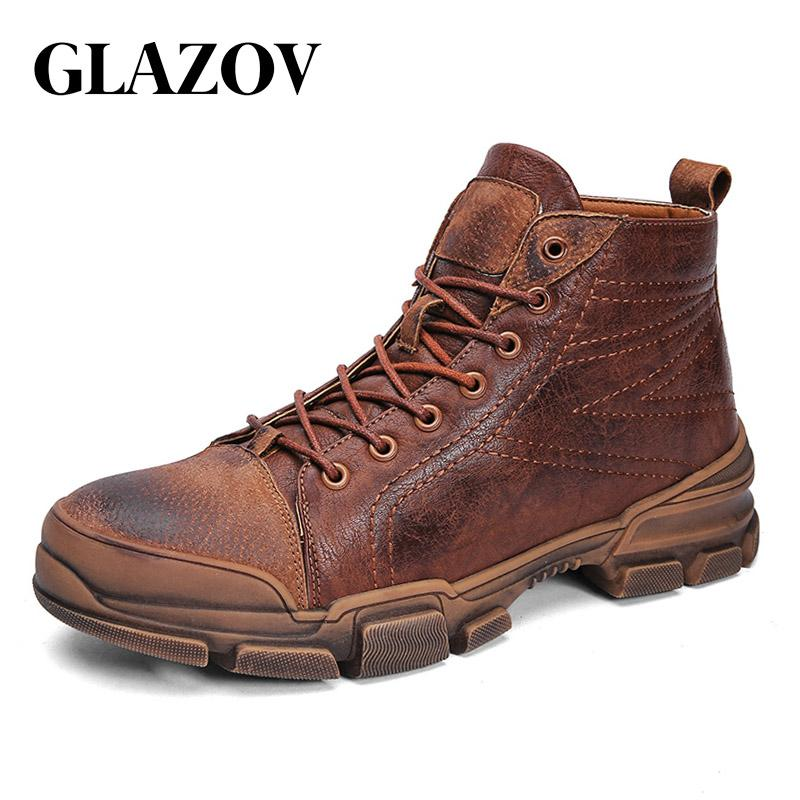 GLAZOV Winter Boots Men Super Warm Comfortable Martin Boots High-top Lace-Up Fashion Winter Shoes Men Zapatillas Fluff Men Boots