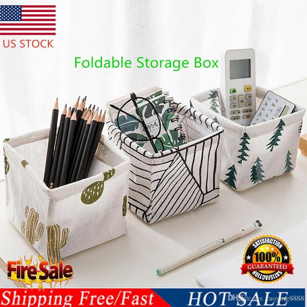 Foldable Storage Box Bin Closet Toy Container Organizer Fabric Linen Basket