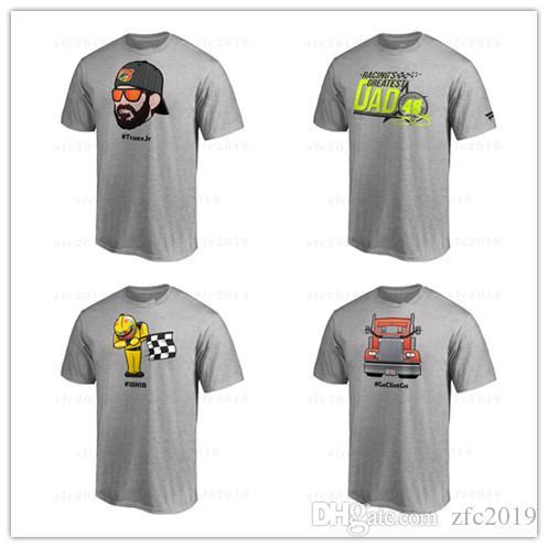 online retailer ae508 30dc4 Alex Bowman 2018 NASCAR Cup Serie Playoffs Emoji T-Shirt Graue kurze Hemden  mit Logo-Aufdruck aus Baumwolle und T-Shirts