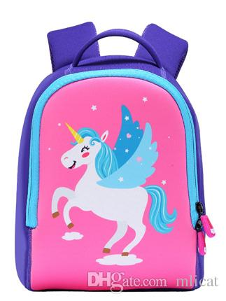 Meng Xiao Miao Kids Backpack, Unicorn Toddler Baby Backpack Kindergarten  Children Cartoon Pre School Bags Boys Girls Gift Schoolbag Messenger Bags  For ... 1981847c9d